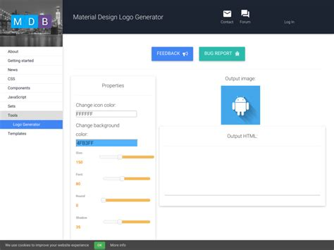 Material Design Logo Maker | material design logo generator materialup