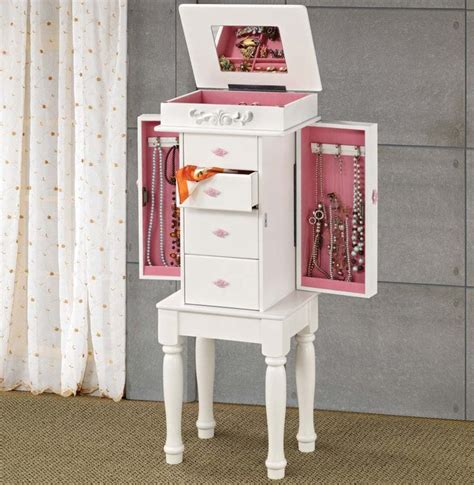 Pink Jewelry Armoire by Top 7 White Jewelry Armoires For Your Bedroom