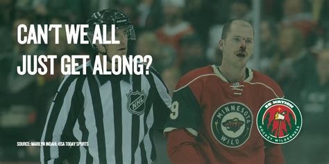Minnesota Wild Memes - can t we all just get along hockey wilderness