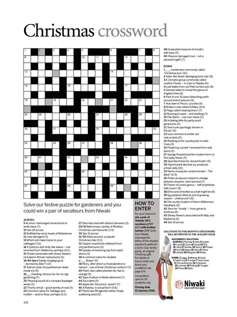 Closing Letter Crossword Win A Pair Of Secateurs From Niwaki With Our Crossword 2014 Gardens Illustrated