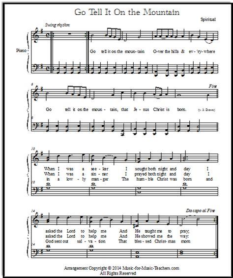 testo dillo alla easy songs for piano go tell it on the mountain