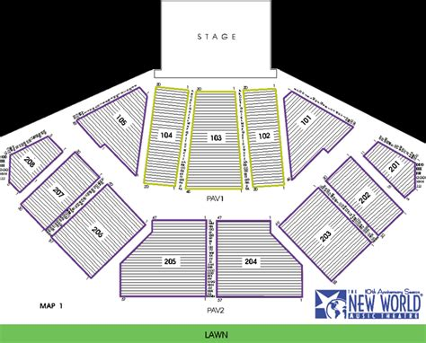 tweeter center seating chart midwest bank hitheatre seating chart