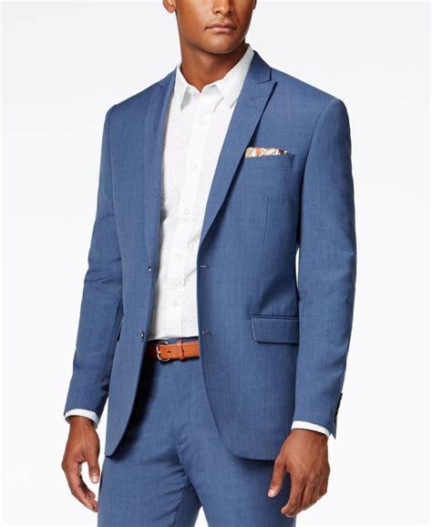bar iii s dusty blue solid slim fit jacket created