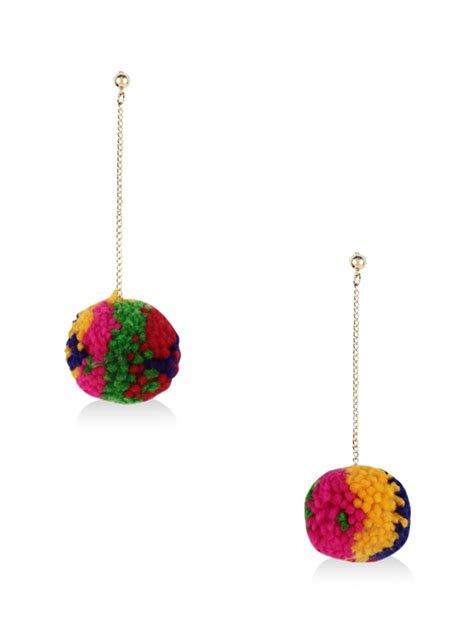 Pom Pom Earring by Buy Blueberry Pom Pom Earrings For S Multi