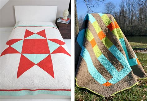 How To Make A Modern Quilt by Jones Wonky Block Modern Quilting Project Sew4home