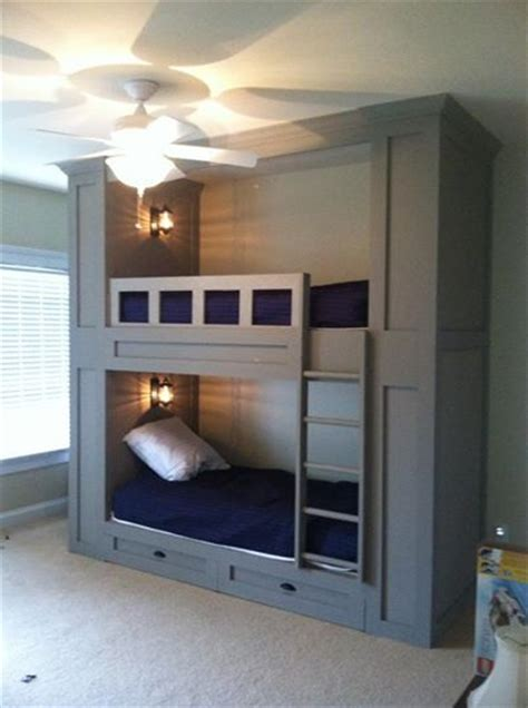 full size bed bunk beds built in bunks full size beds and bunk bed on pinterest