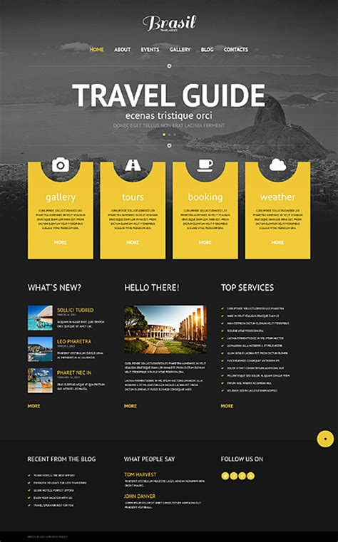 wordpress themes website design template 45263 travel responsive wordpress theme with