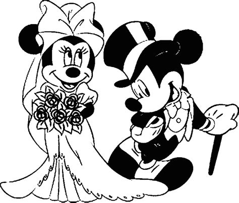 Mickey Mouse Wedding Coloring Page | mickey and minnie mouse coloring pages wedding coloring