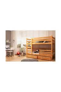 lit superpos 233 en bois massif avec matelas et tiroirs