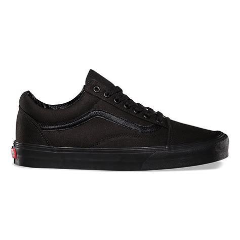 New Basket List Biru Low vans skool black black skateboarding shoes classic