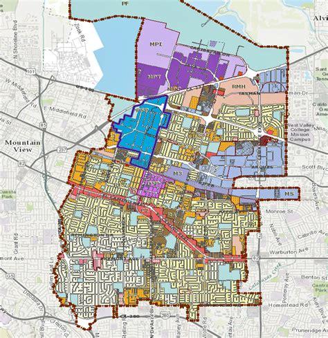 zoning map city of olive sunnyvale community siliconvalleymls