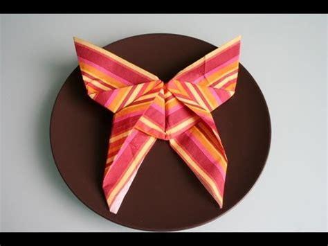 Serviettenform Schmetterling by Servietten Falten Schmetterling Napkin Folding Butterfly