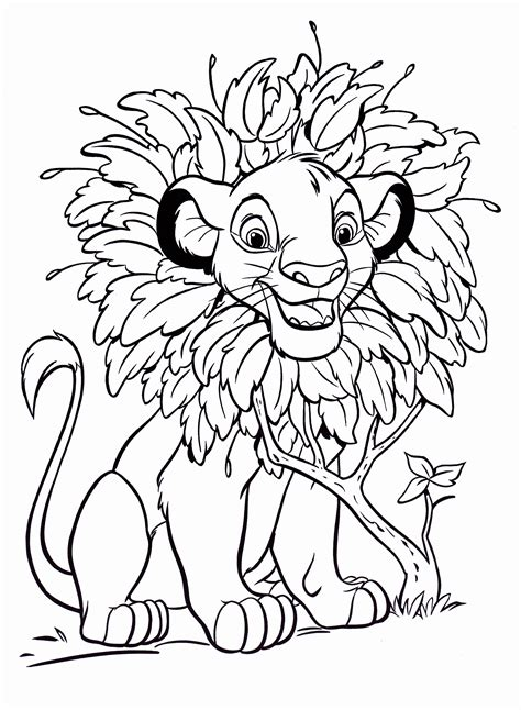 color by disney free printable simba coloring pages for kids
