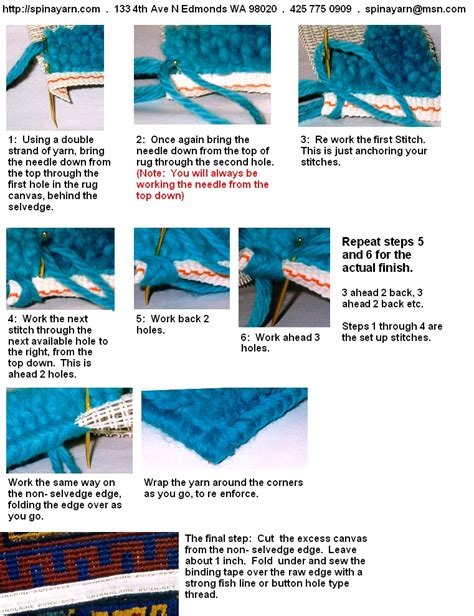 how to bind a hooked rug wool latch hook information