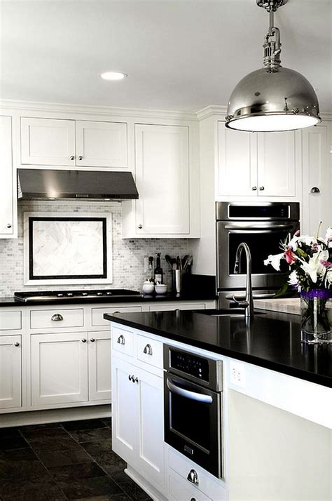 Kitchen With Black And White Cabinets | black and white kitchens ideas photos inspirations