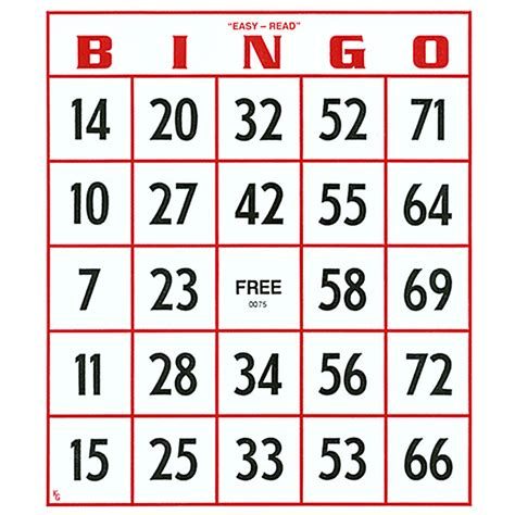 bingo standard card template 15 121 bingo