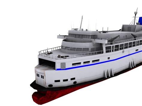 toy boat obj 3d ferries model