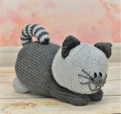 cat motif knitting pattern playful kitten knitting by post