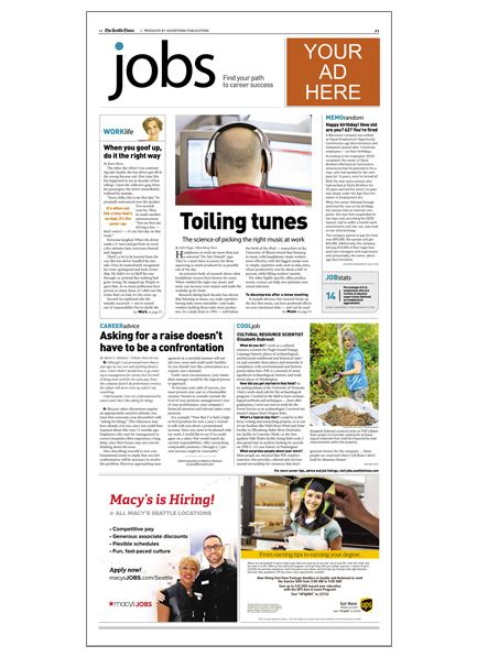 sunday times careers section classifieds the seattle times media kit advertise with us