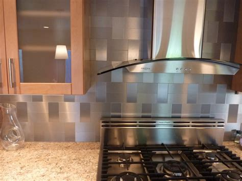 stainless steel backsplashes for kitchens best 25 stainless steel backsplash tiles ideas on