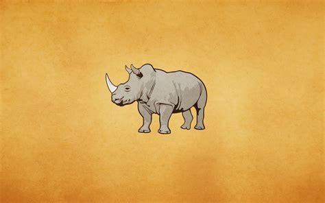imagenes de bufeteras minimalistas fondo de pantalla rinoceronte minimalismo hd