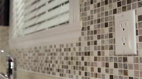 Mosaic Tile Kitchen Backsplash by Rona How To Install Mosaic Tiles Youtube