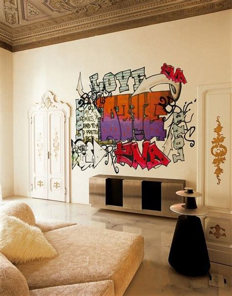 Graffiti Living Room Design 25 cool graffiti wall interior ideas house design and decor