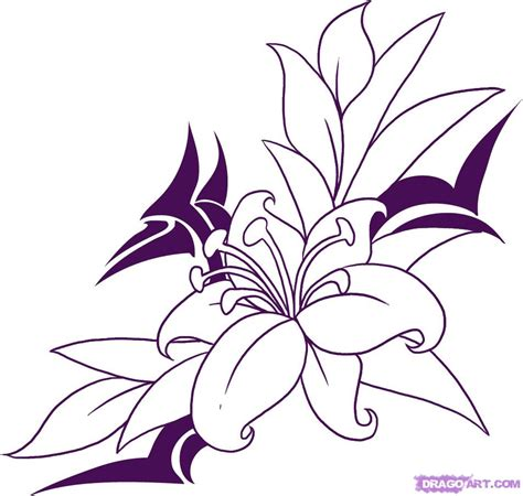 how to draw a tattoo design how to draw a flower step by step tattoos pop