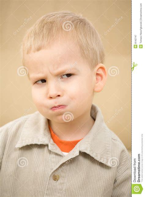 boy sulking sulking boy royalty free stock photography image 8142747