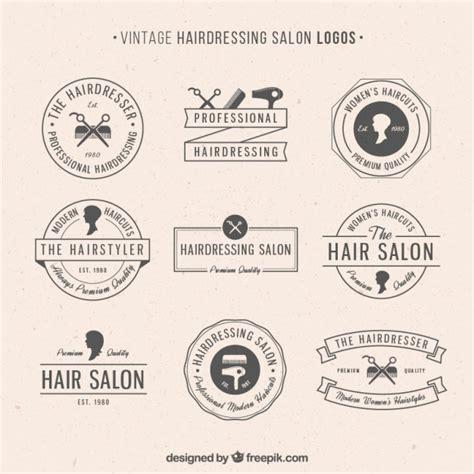 coiffure de style logos de salon de coiffure de style vintage t 233 l 233 charger