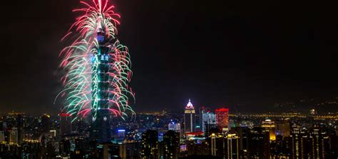 taiwan new year 2015 show taipei new years traditional firework celebrations