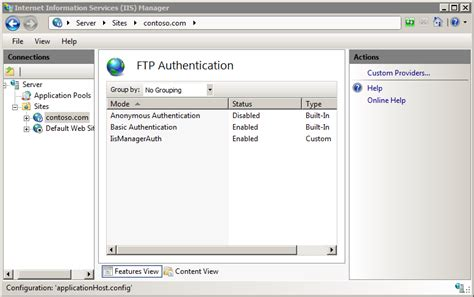 Ftp Custom Authentication The Official Microsoft Iis Site