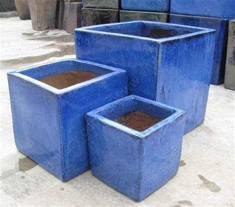 Blue Outdoor Planters Ceramic And Pottery Manufacturer And Supplier