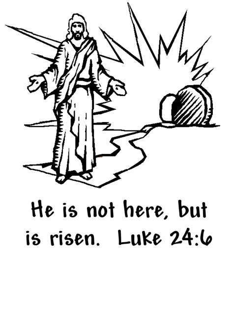 preschool coloring pages about jesus has risen he is risen coloring page easter pinterest easter