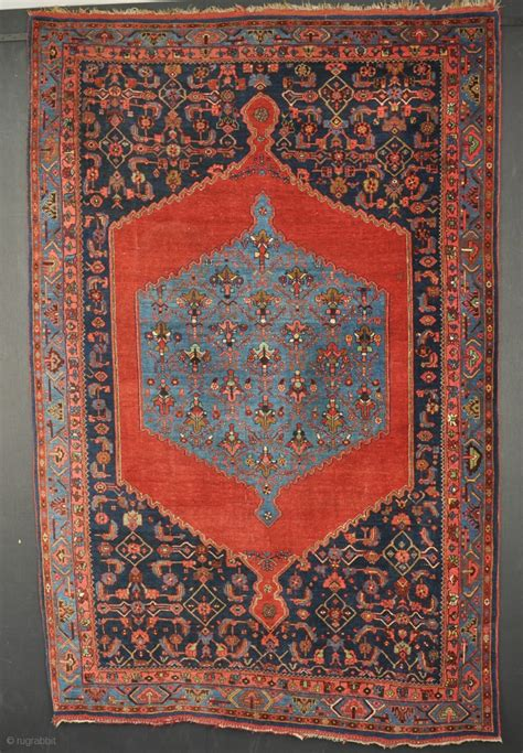 construction rug an antique bijar rug all wool construction and dyes slight wear in places but