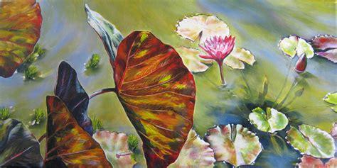 painting images paintings artwork 187 oil paintings 187 leaves on pond