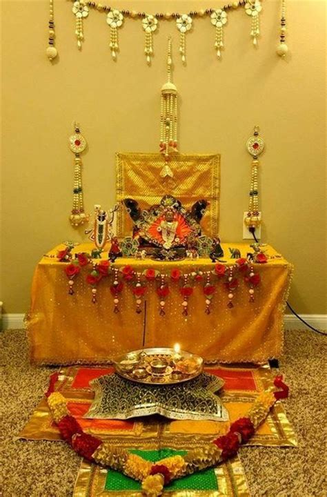 janmashtami decor ideas   temple  home