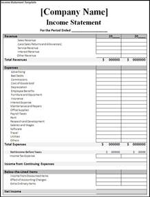 statement of income and expenses template income and expense statement template spreadsheet