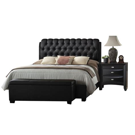 eastern king bed acme furniture ireland black eastern king upholstered bed