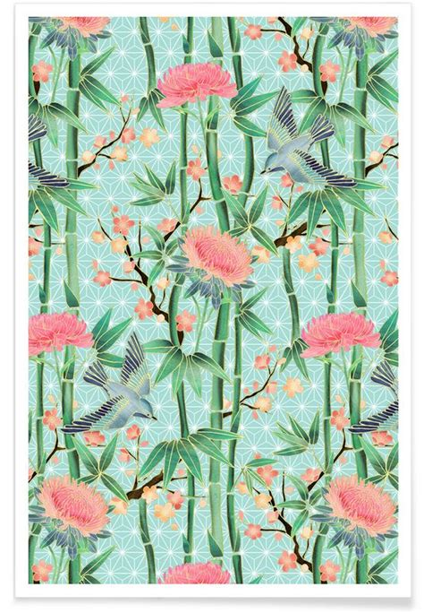 bamboo birds and blossoms on 3858 best pattern and print love images on pinterest