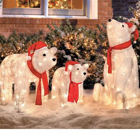 polar bear lighted christmas decorations memes
