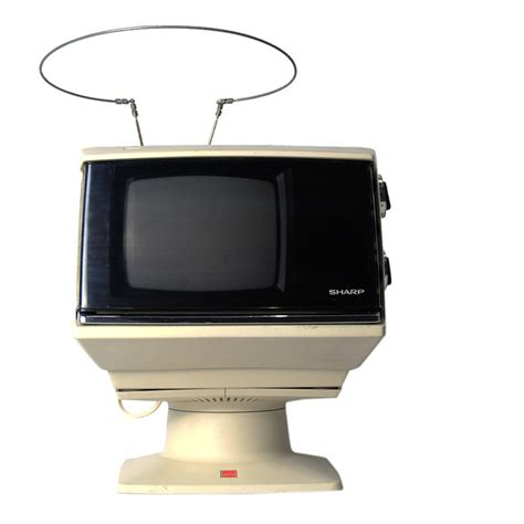 Tv Sharp Di Electronic Solution space age electronics sharp sw 111w white tv modernist icon