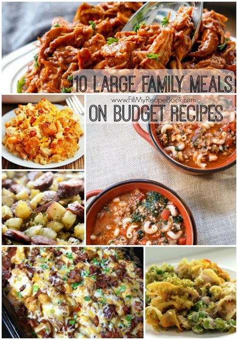 10 cheap family dinner recipes 10 babble 10 large family meals on budget recipes fill my recipe book