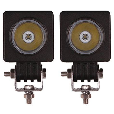 square led offroad lights senzeal 2x 2 10w 1000lm high power cree led work light