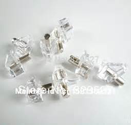 Cabinet Shelf Pins Clear Plastic Shelf Supports With 5mm Nickel Plated Pin