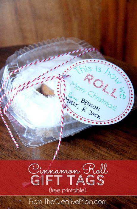 cinnamon roll gift tags  printable neighbor christmas gifts christmas crafts  gifts
