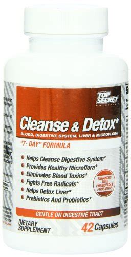 Socal Cleanse Detox Nutraceutical by Top Secret Nutrition 4 Way Cleanse And Detox Capsules 42