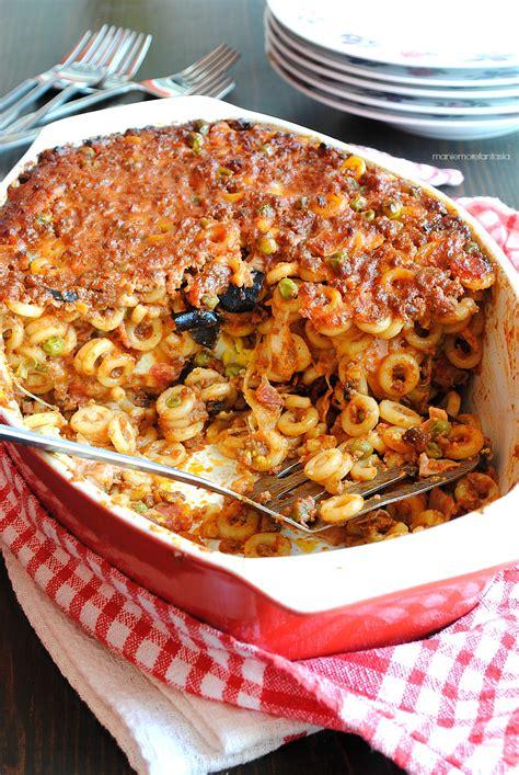cucinare la pasta al forno pasta al forno siciliana gli anelletti anelletti al