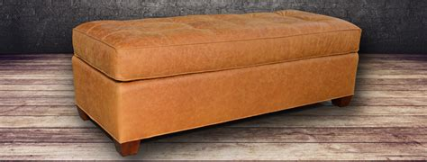 Top Grain Leather Storage Ottoman Leather Ottoman Grain And Top Grain Leather At