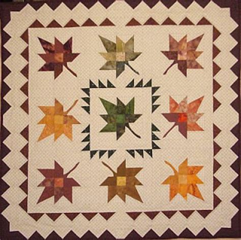 Fall Leaves Quilt Pattern by Quilt Inspiration Free Pattern Day Autumn Leaves